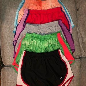 5  pairs XS Nike shorts